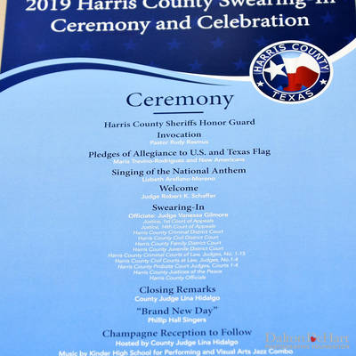 Harris County Swearing-In Ceremony And Celebration 2019 At NRG Center <br><small>Jan. 1, 2019</small>