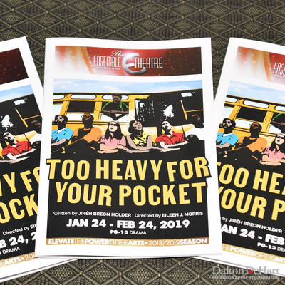 ''Too Heavy For Your Pocket'' - Out at The Ensemble Theatre <br><small>Jan. 25, 2019</small>