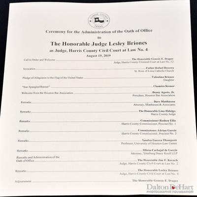 Judge Lesley Briones, Harris County Civil Court At Law No. R - Investiture At Harris County Civil Courthouse & Celebration At Batanga  <br><small>Aug. 19, 2019</small>