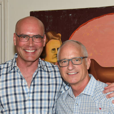 """Book Kick-Off Fundraiser """"Literarily Be a Part of History"""" at the Home of John Heinzerling and Ciro Flores <br><small>Oct. 22, 2017</small>"""