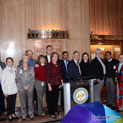 Mayor Annise Parker - Press Conference Announcing The Support Of The Houston Equal Rights Ordinance & Party At Guava Lamp  <br><small>May 13, 2014</small>