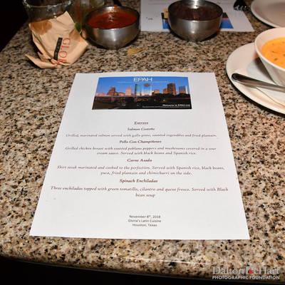 EPAH 2018 - November 2018 Dinner Meeting At Gloria'S Latin Cuisine  <br><small>Nov. 27, 2018</small>